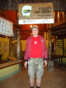 Das Besucherzentrum am Eingang des Nationalparks Vulkan San Pedro
