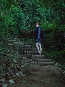 Ist doch garnicht so schwer: Treppenstufen erleichtern den Aufstieg