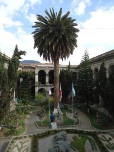 Der Innenhof des Rathauses von Xela
