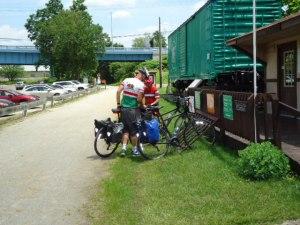 Der GAP Bike Trail bei Boston. Die wassergebundene Wegedecke ist hervorragend.