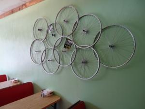 Ein Cafe in Connelsville: der GAP Bike Trail ist allgegenwärtig!