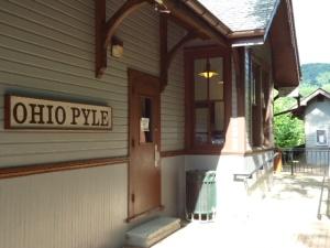 Das historische Bahnhofsgebäude von Ohiopyle: heute beherbergt es eine Touristeninformation.