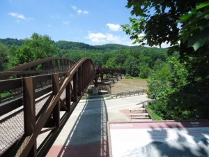 Eisenbahnbrücke über den River Yough bei Ohiopyle