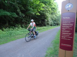 Neil auf dem GAP Bike Trail bei Rockwood