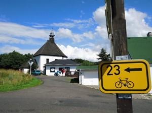 Der gut beschilderte Radweg Nummer 23